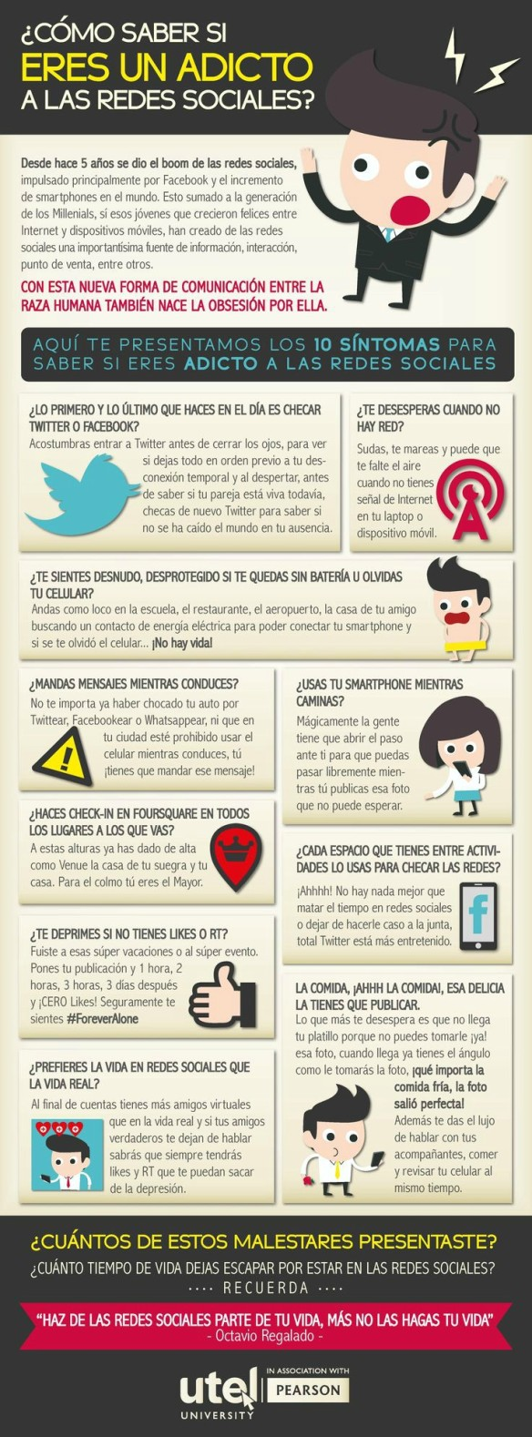 Infografía Adicto Redes sociales