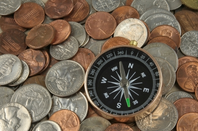 Compass On Coins by thanunkorn