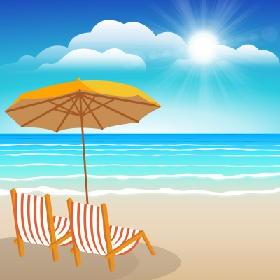 """""""Chairs, Umbrella, Sand And Sea"""" by samarttiw"""