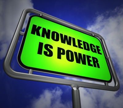 """Knowledge Is Power Signpost Represents Education And Development"" by Stuart Miles"